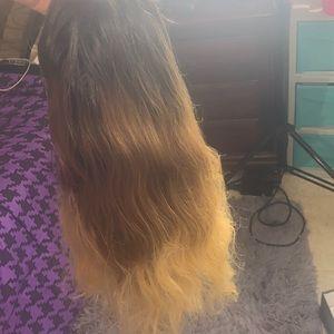 HUMAN HAIR Light brown , Black, Blonde Wig
